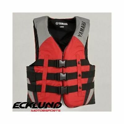 New Yamaha Mens 3 Buckle Pfd Red - Non Current Mar-12V3B-Rd_