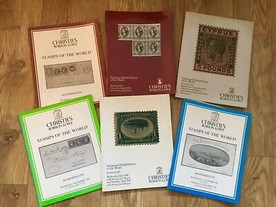 6 x Christie's Auction Catalogues: Stamps of the World 1988 & 1990
