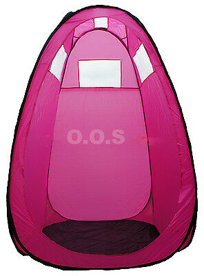 Pink Pop Up Spray Tan Tent, Unused, Built Up For Show, **missing Case**