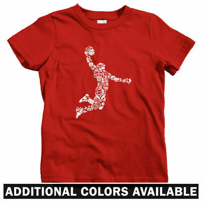 Basketball Player Kids T-shirt - Baby Toddler Youth Tee - Gift Slam Dunk Baller