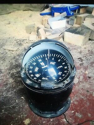 Vintage Henry Browne & Sons Ships Marine Compass Open Close Top