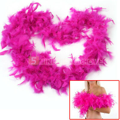 2M Rose Red Feather Boa Fluffy Party Decoration Fancy Costume Dress Up Prop x 1