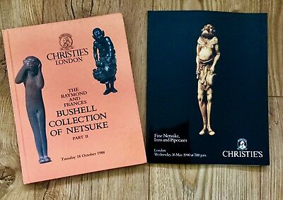 2 x Christies Auction Catalogue Fine Netsuke: Inc Bushell Collection ptII
