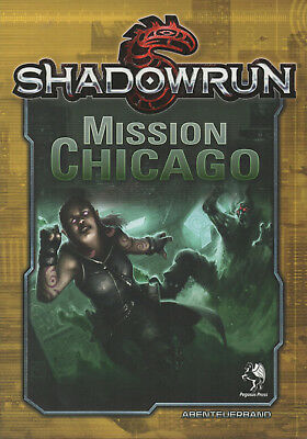 SHADOWRUN-MISSION CHICAGO-Abenteuerband-Cyber Rollenspiel-(SC)-neu-Out of Print