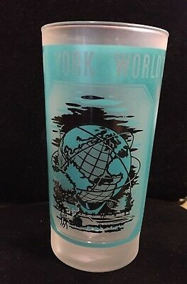 New York World's Fair 1964-1965 Unisphere Frosted Tumbler Glass