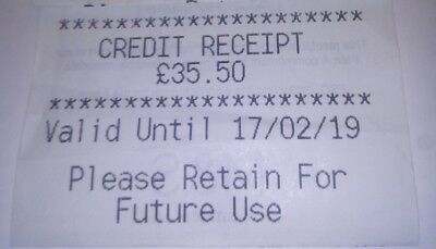 M&S £35.50 Marks and Spencer Credit Receipt - Gift Voucher / M&S (in-store use)