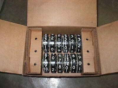 NOS Veeder Root Computer Wheels 2 Sets in Box  3 Wheel