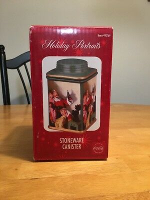 Coca-Cola Holiday Portraits Stoneware Canister 2002