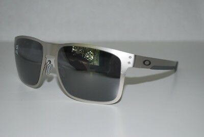 14f8334a14 Oakley Holbrook Metal Sunglasses OO4123-0355 Satin Chrome Black Iridium NEW