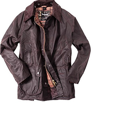 Barbour Bedale Men's Waxed-Cotton Jacket - Rustic, Size 34, 36