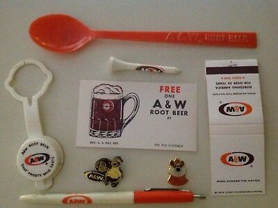 8 Different Items In Collection For A & W Root Beer
