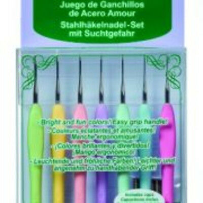 Clover Amour Steel Crochet Hook Size 0.6mm - 1.75mm