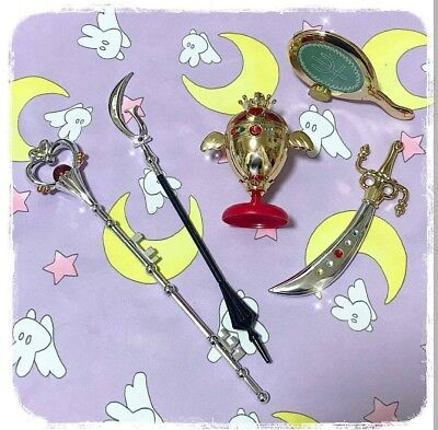 Bandai Sailor Moon Gashapon Vol.5 Stick Rod & Transformation Wands Full Set