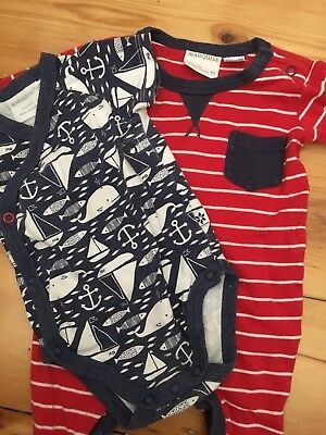 2 Marquise Baby Boy Rompers Size 000