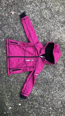 Girls Snozu Jacket coat size 5 / 6 pink fuzzy inside waterproof