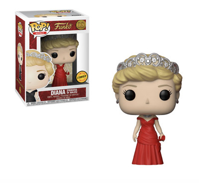 Funko Pop Royals Diana Princess Of Wales #03 Chase Edition Red Dress New