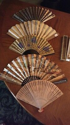 Antique & Vintage hand fans Mexico, 1908 London Expo ECT...
