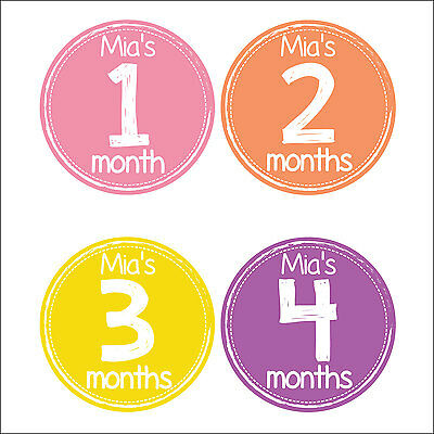 Personalised Monthly Baby Stickers, Milestone Stickers, Baby Shower Gift_G004