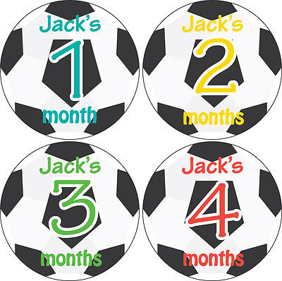 Personalised Monthly Baby Stickers, Milestone Stickers, Baby Shower Gift_B011