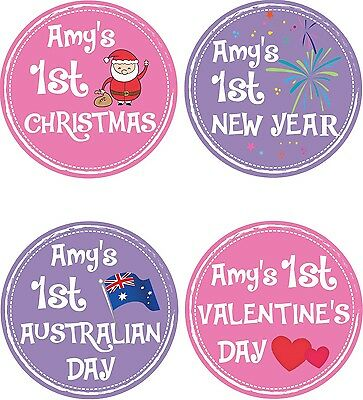 Personalised Baby Holiday Stickers, Baby Stickers, Baby Shower Gift_G003