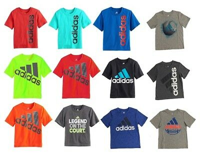 NEW - Adidas Little Boys' Athletic Sports T-Shirt - Pick Size Color & Style