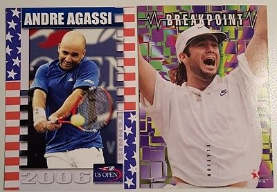 Andre AGASSI 2-cards LOT 2006 US Open Collector #22/25 BREAKPOINT #90/100 Tennis