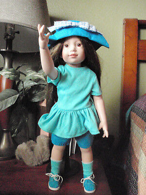 TONNER MAGIC ATTIC  Blue shorts outfit w/ hat and shoes and socks -no doll