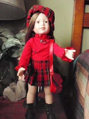 Tonner Magic Attic  Red Plaid  Outfit Only