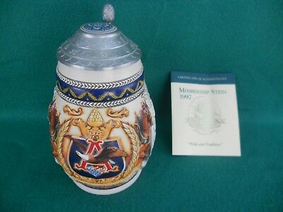 "Anheuser Busch Collectors Club Pride and Tradition Stein, 7-1/2"" Tall"