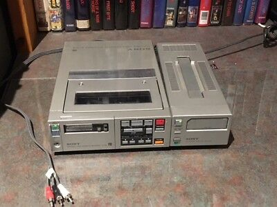 Betamax Sony SL-F1 Deluxe Portable mono Beta VCR. - use to copy tapes to DVD