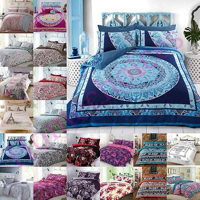 Duvet Cover With Pillow Cases Quilt King Size Double Single Super