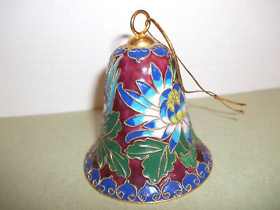 Enameled Bell with Twisted Gold Tone Decorative Wire
