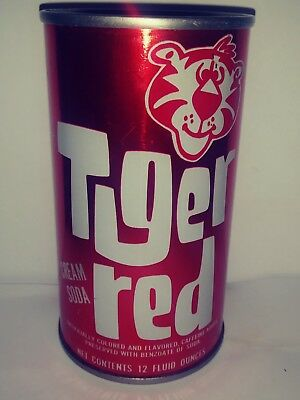 Tiger Red Cream Soda Pull Tab Soda Can - St.louis, Mo!!!