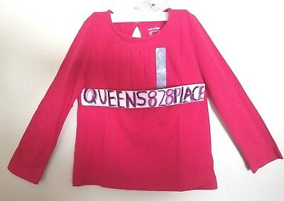 Nwt Baby Gap Girls size 4 4T Pink Pleated Swing Tee shirt Top long sleeve New