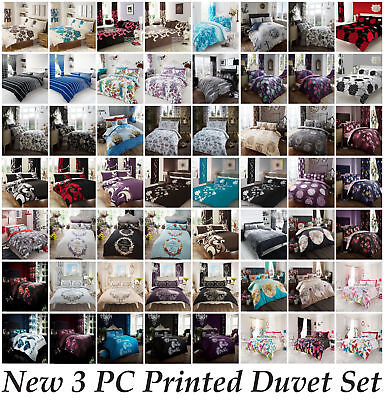 Duvet Quilt Cover Bedding Set  with Pillowcases Single Double King & S King