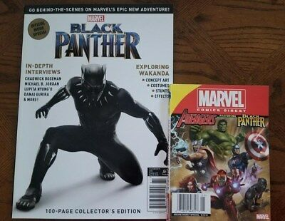 Black Panther Official Movie Special Magazine & Marvel Comic Digest Set