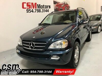 2002 Mercedes-Benz M-Class Base Sport Utility 4-Door Wagon 4 Dr. AWD Automatic