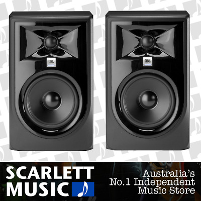 2x JBL LSR305 MKII Pair Active Monitors 5 Inch LSR-305P - w/ 5 Years Warranty.