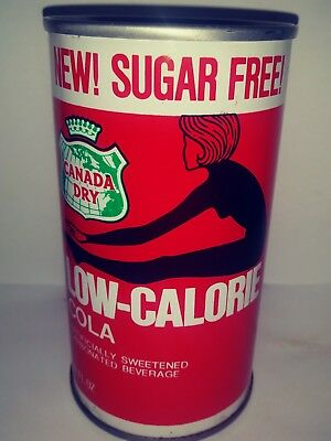 Canada Dry Sugar Free Low Calorie Cola Pull Tab Soda Can - Ft.wayne, In!!!