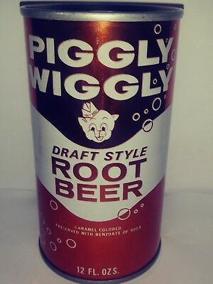 Piggly Wiggly Draft Style Root Beer Pull Tab Soda Can - Jacksonville, Fl!!!