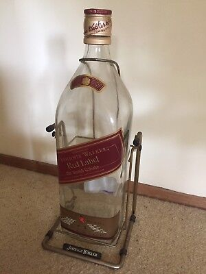 Giant Johnnie Walker Red Label Bottle And Cradle EMPTY