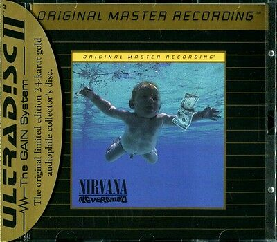 Nirvana Nevermind Ultradisc Gold Mobile Fidelity Sound Lab Mfsl Cd New Sealed!