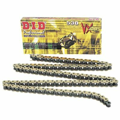 DID 530VX Gold/Black 122 Links Motorcycle Chain