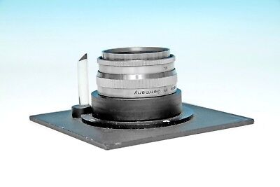 Beseler 4 x 4 Lens Board with Pilot & 135mm Lens for 4 x 5 Negative Printing