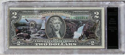 Genuine $2 Note 1872, Authenticated, Uncirculated, Never Removed from the Case