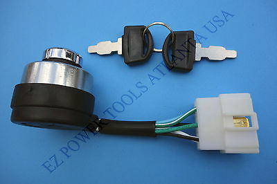 6-Wire Gas Generator Ignition Key Switch for 242CC 8HP 173F 270CC 9HP 177F