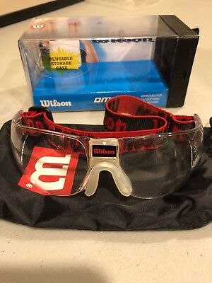 Wilson OMNI Protective Eyewear Sport Goggles Glasses Racquetball Squash Red CLEA
