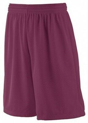 (maroon, l) - Youth Long Tricot Mesh Short/Tricot Lined Short MAROON YL