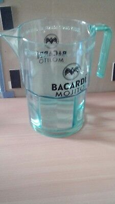 Bacardi Rum clear green pitcher
