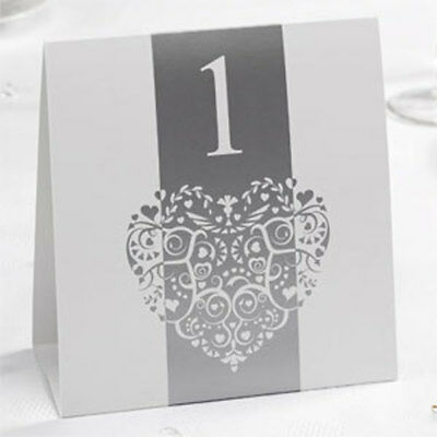 Vintage Romance - Table Numbers - White/Silver or Gold & Ivory
